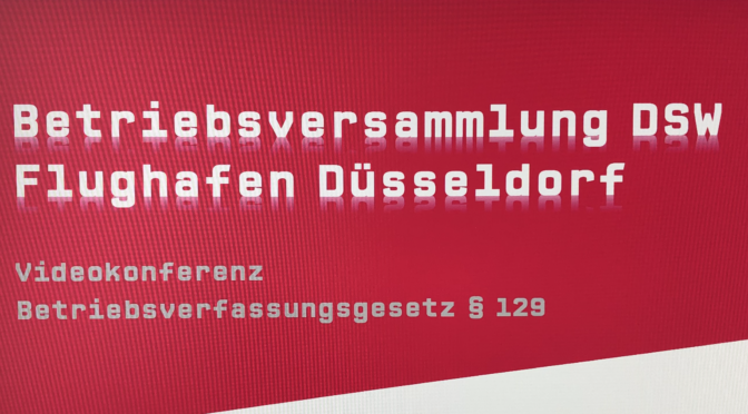Flughafen Düsseldorf: DSW behindert Betriebsratsarbeit!